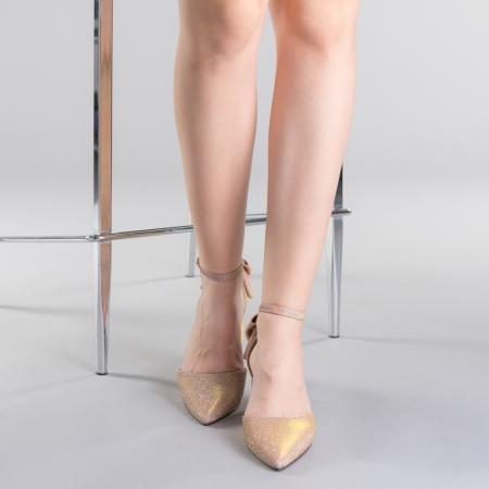 Pantofi dama Roxanne champanie1