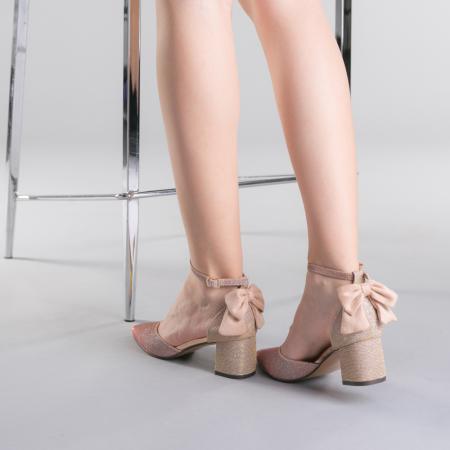 Pantofi dama Roxanne champanie3