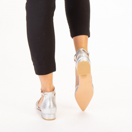 Pantofi dama Safa argintii3