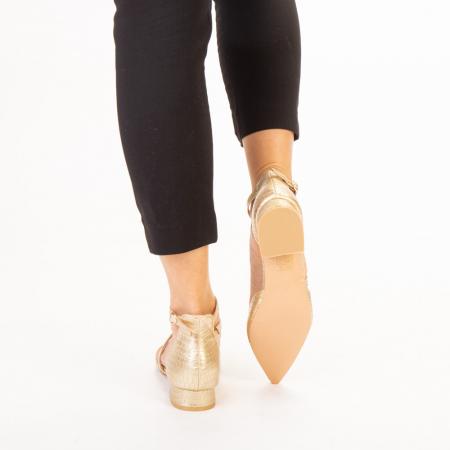 Pantofi dama Safa aurii3