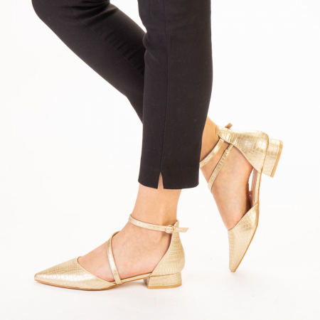 Pantofi dama Safa aurii2