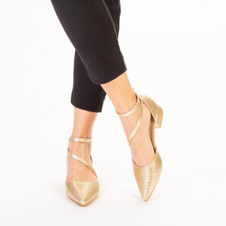 Pantofi dama Safa aurii1