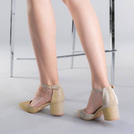 Pantofi dama Sorelia aurii3