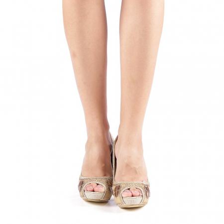 Pantofi dama Stacy aurii3