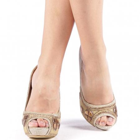 Pantofi dama Stacy aurii4