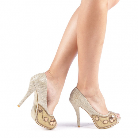 Pantofi dama Stacy aurii0