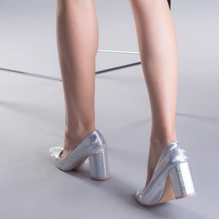 Pantofi dama Tina argintii3