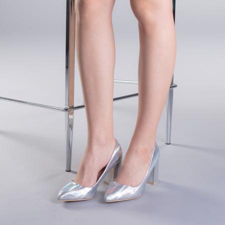Pantofi dama Tina argintii2