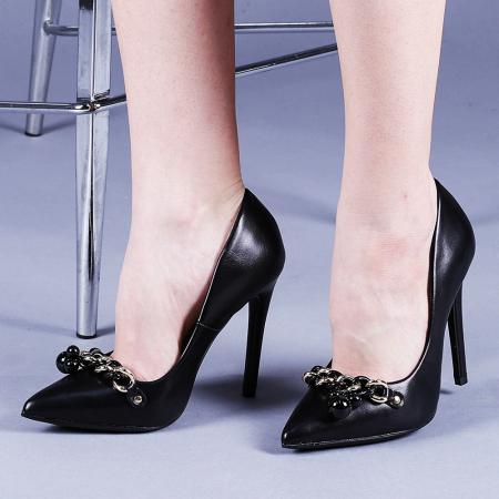 Pantofi dama Valentina negri0