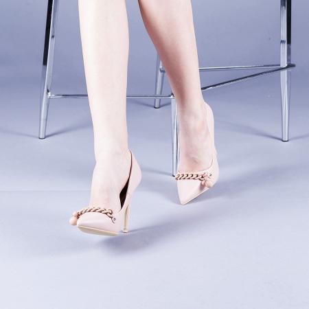 Pantofi dama Valentina roz2