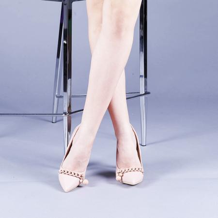 Pantofi dama Valentina roz1