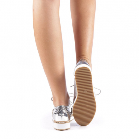 Pantofi dama Yvona argintii2