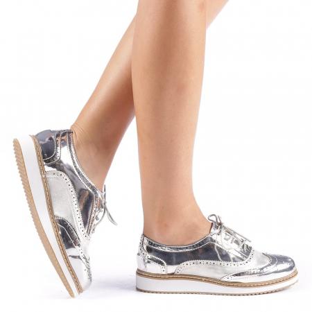 Pantofi dama Yvona argintii0