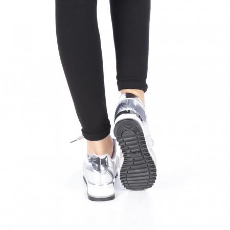 Pantofi sport dama Andree argintii3