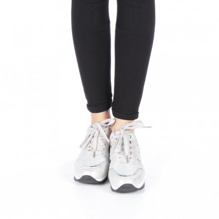 Pantofi sport dama Andree argintii4
