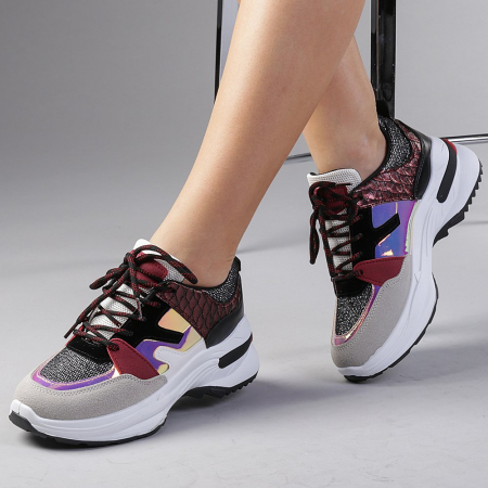 Pantofi sport dama Angela rosii0