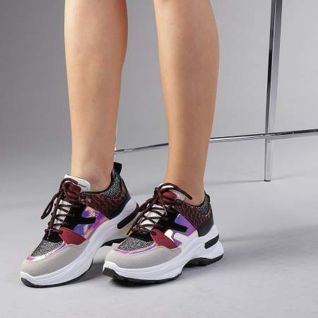 Pantofi sport dama Angela rosii2