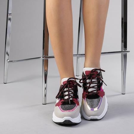 Pantofi sport dama Angela rosii1