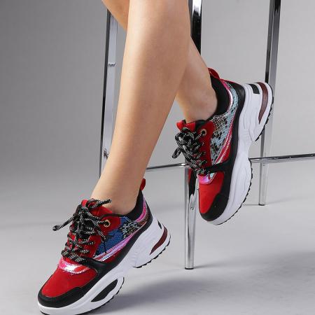 Pantofi sport dama Antonela rosii2