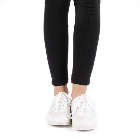 Pantofi sport dama Antonia albi4