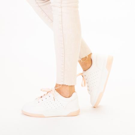 Pantofi sport dama Aren albi cu roz2