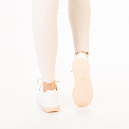 Pantofi sport dama Aren albi cu roz3