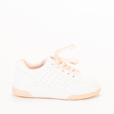 Pantofi sport dama Aren albi cu roz0