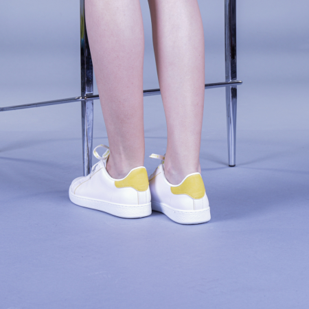 Pantofi sport dama Augustina galbeni3