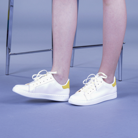 Pantofi sport dama Augustina galbeni0