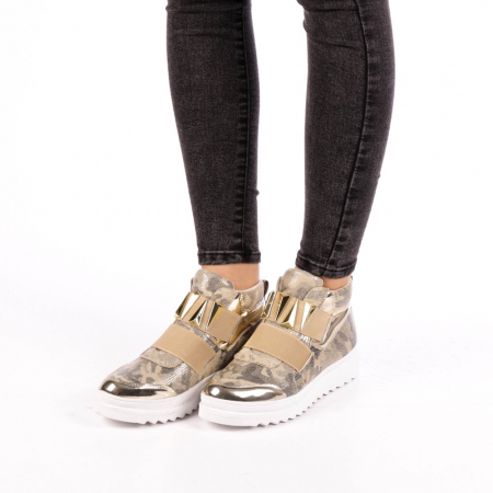 Pantofi sport dama  Aura aurii1