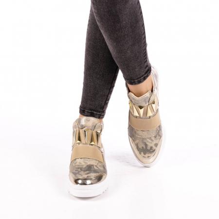 Pantofi sport dama  Aura aurii4