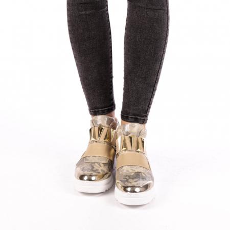 Pantofi sport dama  Aura aurii3