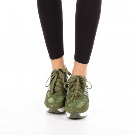 Pantofi sport dama  Bera army1