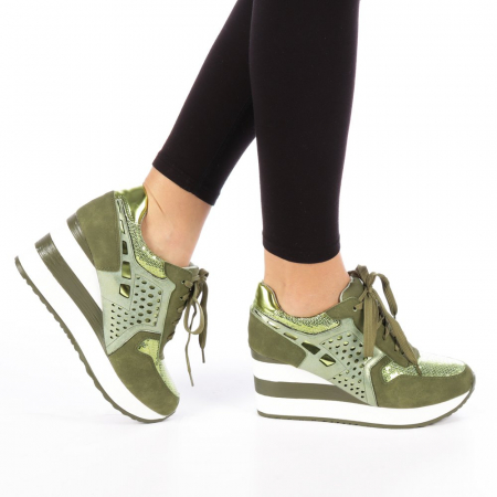 Pantofi sport dama  Bera army0