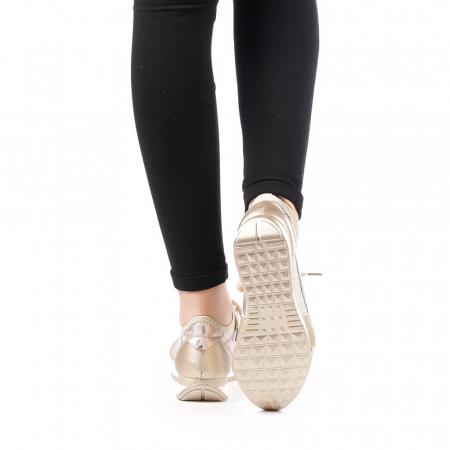 Pantofi sport dama Bonar aurii3