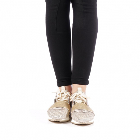 Pantofi sport dama Bonar aurii4