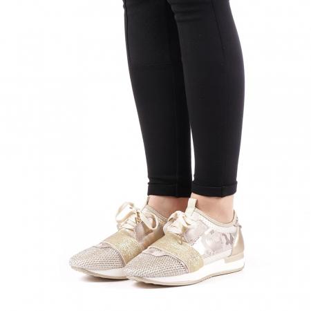 Pantofi sport dama Bonar aurii2