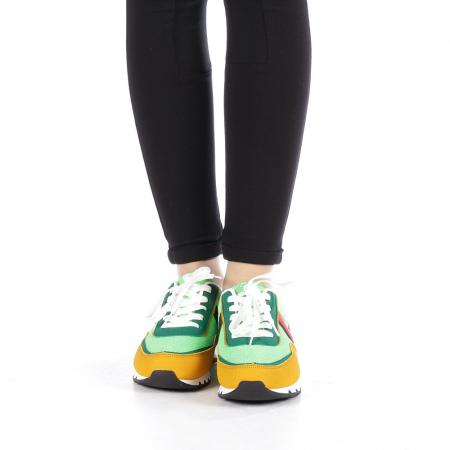 Pantofi sport dama Bony verzi3