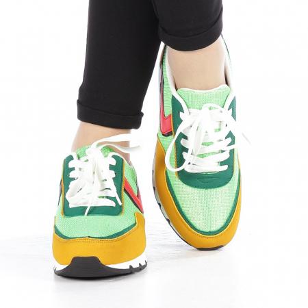 Pantofi sport dama Bony verzi4