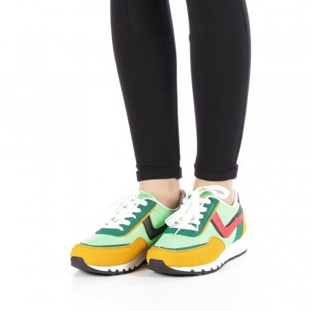 Pantofi sport dama Bony verzi1