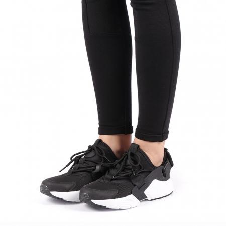 Pantofi sport dama Carmena negri cu alb2