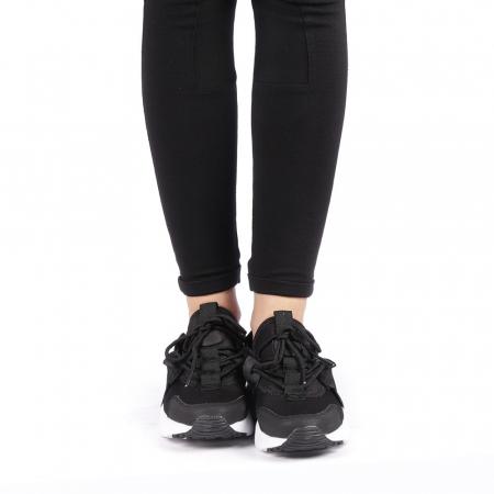 Pantofi sport dama Carmena negri cu alb4
