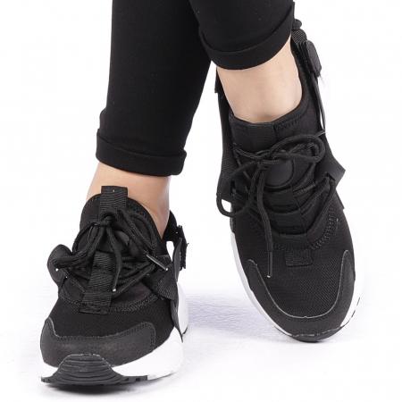 Pantofi sport dama Carmena negri cu alb1