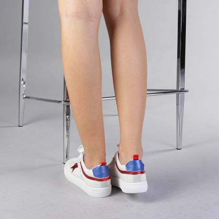 Pantofi sport dama Cecilia rosii3