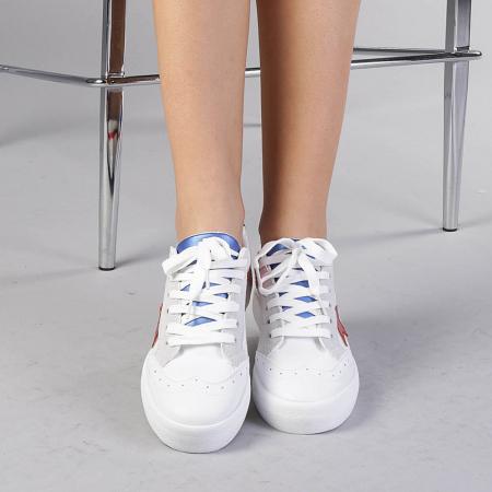 Pantofi sport dama Cecilia rosii2