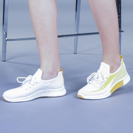 Pantofi sport dama Cindy galbeni2