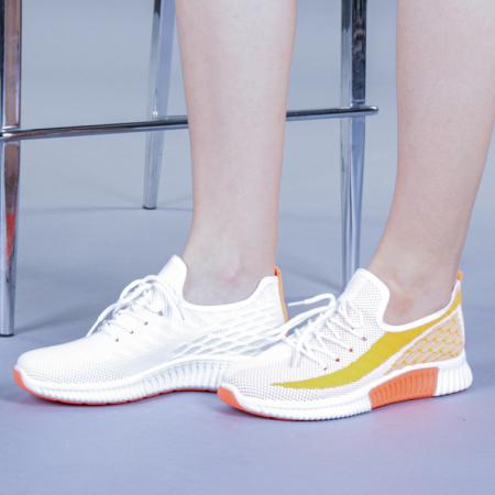 Pantofi sport dama Cindy portocalii0