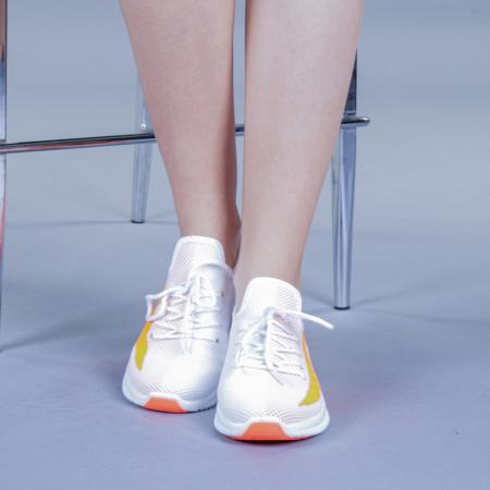 Pantofi sport dama Cindy portocalii1