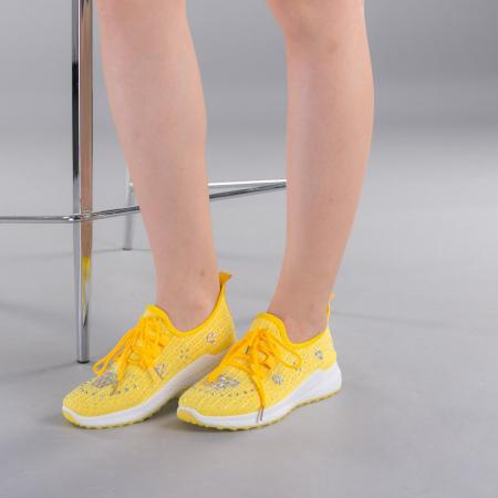 Pantofi sport dama Cleo galbeni2
