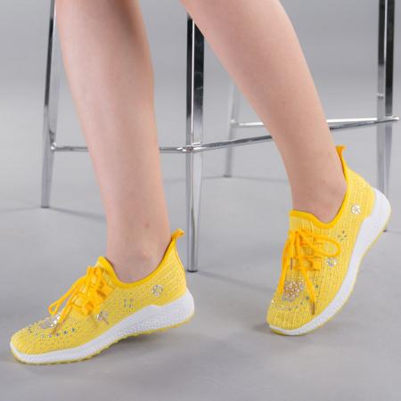 Pantofi sport dama Cleo galbeni0